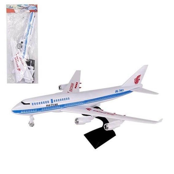 Miniatura Avião A Fricção Air China Na Solapa Pedestal
