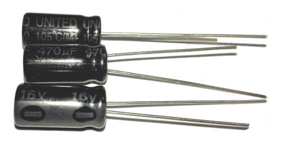 Capacitor 470uf 16v Electrolítico Arduino Pack X 10 Unidades