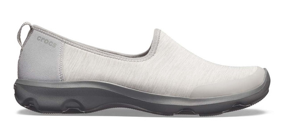 Zapato Crocs Dama Busy Day Heather Skimmer Gris