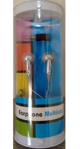Kit 10 Fone De Ouvido Earphone Multiuso Leadership Cod 3968