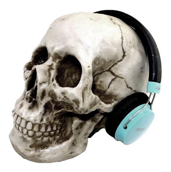 Cranio Caveira Suporte Headset Fone De Ouvido