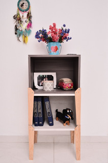 Buro Mesa Auxiliar Mueble Minimalista Apilable