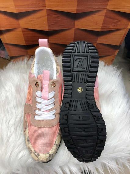 Tênis Sapatênis Rosé Com Branco Frete Original