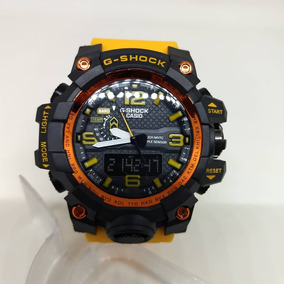 Relogio Atlants G Shock Black Yellow Pronta Entrega