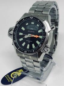 Relogio Atlantis Aqualand Jp2000 Original Serie Prata Inox