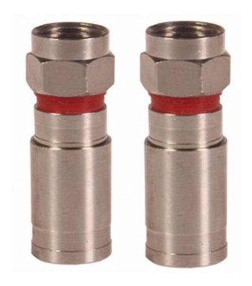 Conector De Compressão Rg6 Blindado - 10 Unidades