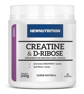 Creatina + D-ribose 240g Força Massa Muscular Testosteron
