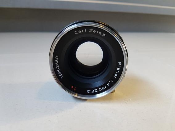 Lente Zeiss Planar 50mm 1.4 Nikon (brinde 2 Filtros)