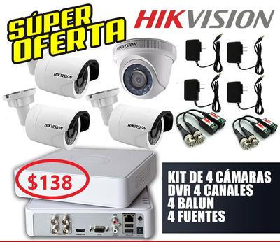 Oferta Kit De 4 6 8 16 Cámaras Seguridad Hd 720p Hikvision.