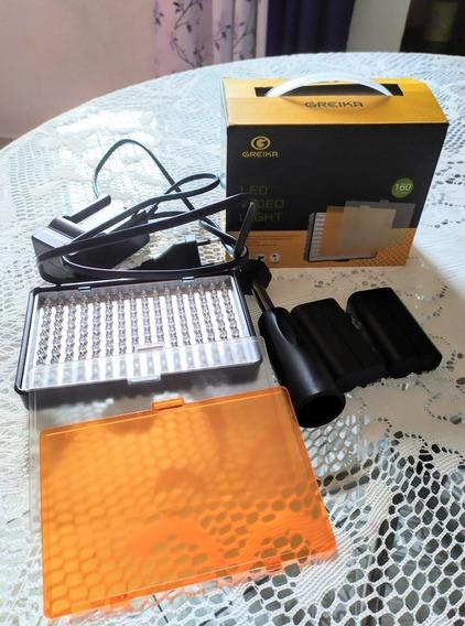 Iluminador Prof. Greika Tl-160s (led+bateria Extra+carregad)