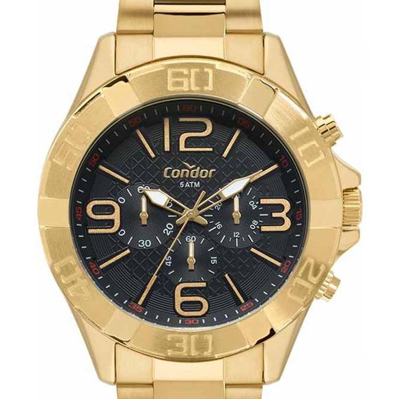Relógio Condor Dourado Masculino Cronógrafo Covd54bd/4p C/nf