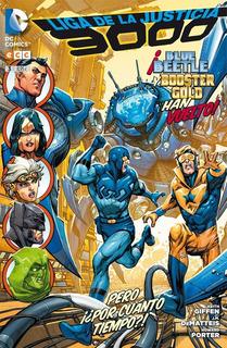 Liga De La Justicia 3000 Blue Beetle Y Booster Gold Han Vuel