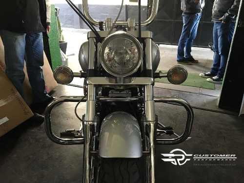 Protetor Motor Drag Star 650 Tradicional Customer Cromado