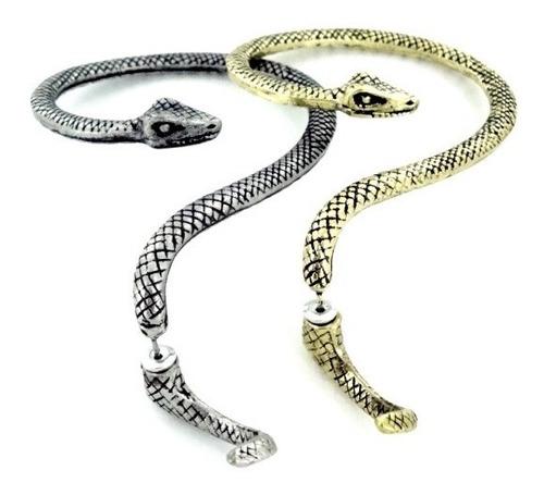 Zarcillos Solitario Ear Cuff Serpiente Cobra Culebra Moda