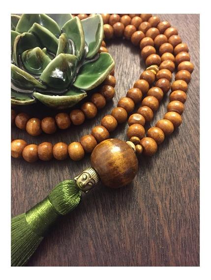 Japamala Budista Ho´oponopono 108 Contas Madeira 8 Mm