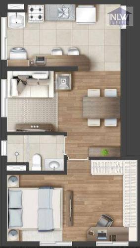 Imagem 1 de 17 de Apartamento Com 1 Dormitório À Venda, 42 M² Por R$ 209.000,00 - Jardim Tupanci - Barueri/sp - Ap3325