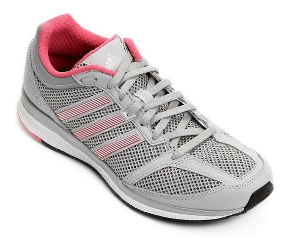 Tenis adidas Mana Bounce Cinza/rosa