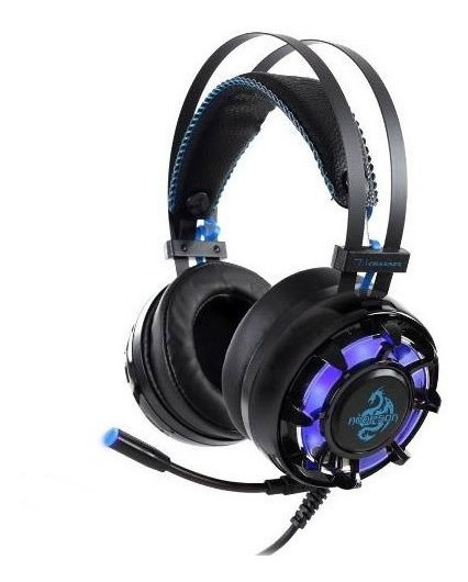 Headphone Headset Gamer Led Azul Usb 7.1 C/ Microfone Zh18