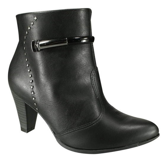 Bota Feminina Ramarim Ankle Boot Cano Curto Preta