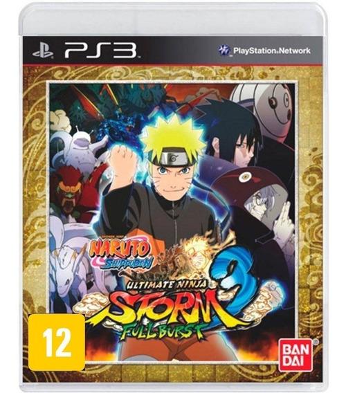 Jogo Naruto Ps3 Shippuden Ultimate Ninja Storm 3 Full Burst