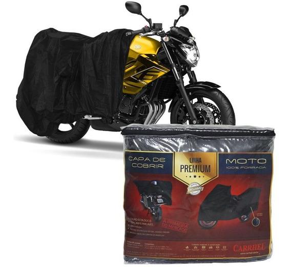 Capa Couro Cobrir Moto Protetora Forrada Impermeável Tam M