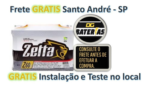Bateria De Carro Zetta 60ah Renault: Clio,kangoo, Mégane,