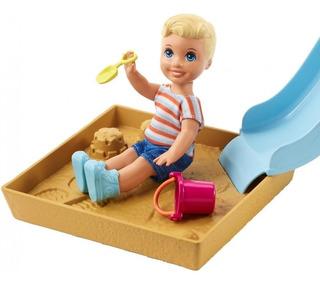 Barbie Skipper Babysitters Inc - Nenito Arenero Y Tobogán