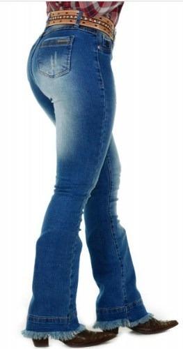 Calça Jeans Country Feminina Radade Flare Lançamento Rodeio