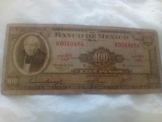 Billete Antiguo De 100 Pesos 1972 De Hidalgo