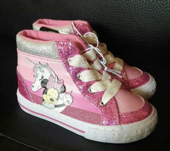 Zapatos Botines Minnie Mouse Disney Originales Importados