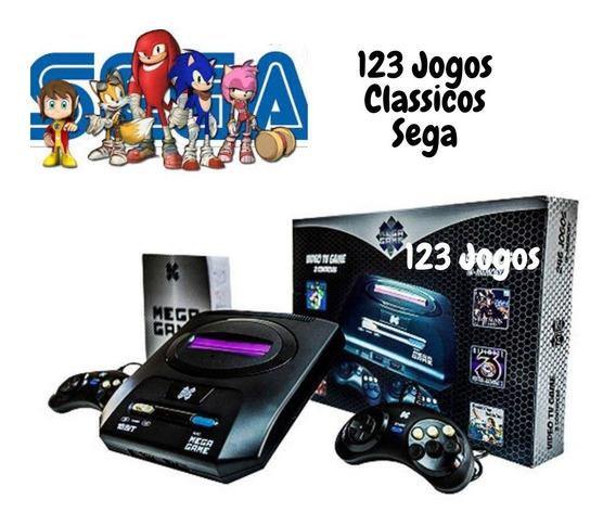 Video Game Mega Game 123 Jogos Clássicos Sega Na Memória