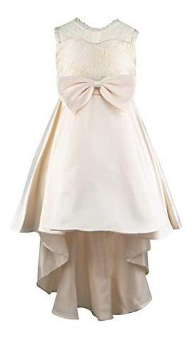 Vestido Formal Beige Elegante Princesa Largo Bordado Boda 5