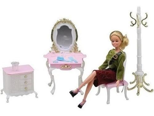 Gloria El Tocador Para Muñecas Espejo Muebles Barbie