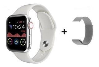 Relógio Smartwatch Iwo12 + Pulseira Milanese Metal Brinde