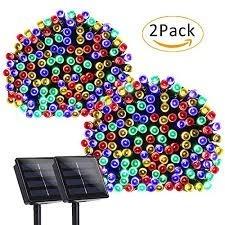 Luz Solar 200 Led Colores Set X2