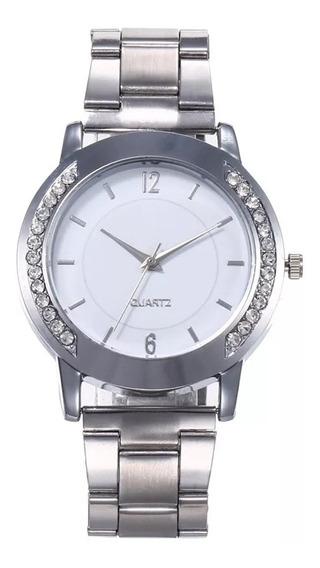 Relógio Geneva Feminino Pulseira Inoxidável Com Stress
