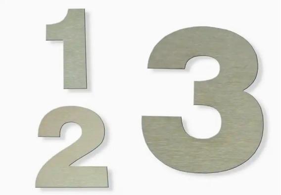 Números Dirección Frente De Casa Acero Inoxidable 15cm X 4u