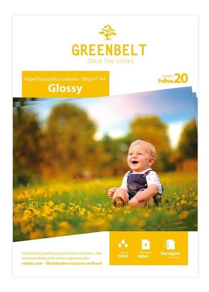 Papel Fotográfico Adesivo Glossy 180g Greenbelt A4 20 Folhas