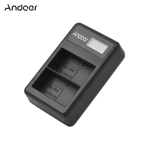 Andoer Lcd2-blf19 Lcd Dual Camera Carregador De Bateria Para