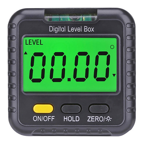 Imagen 1 de 7 de Nivel Digital Mini Lcd Inclinometro 360º O % Base Magnetica