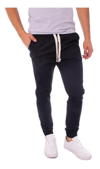 Pantalon Hombre - Jogging - Babucha Hombre Liso - Gabardina - Elastico En Puño Y Cintura - Moda Urbana