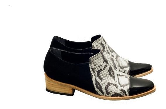 Zapatos Mocasin Botineta Bota Mujer 2019 Cuero Invrno