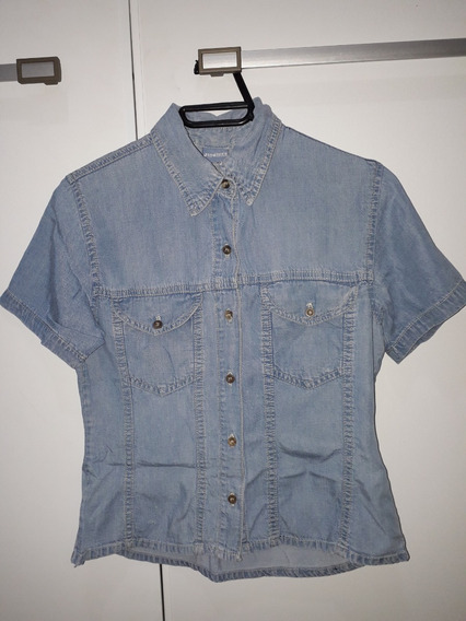 Camisa Jeans Vintage Anos 90 Tamanho P