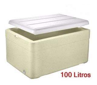 1 Caixa Térmica Grande Isopor 100 Litros Refrigerante