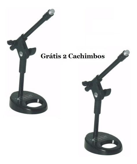 Par De Pedestal Girafa De Mesa Para Microfone Torelli Hpm56