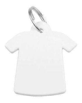 100 Chaveiro Plástico Polímero Camiseta Sublimação Branco