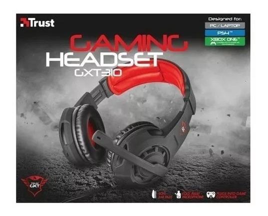 Headset Gamer Gxt 310 Trust Pc/ Ps4/ Xbox One Preto Lacrado