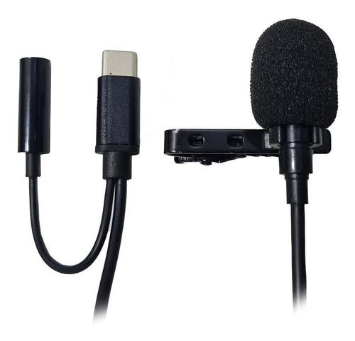 Imagem 1 de 3 de Microfone Condensador De Lapela Conector Tipo C Para S10 S20