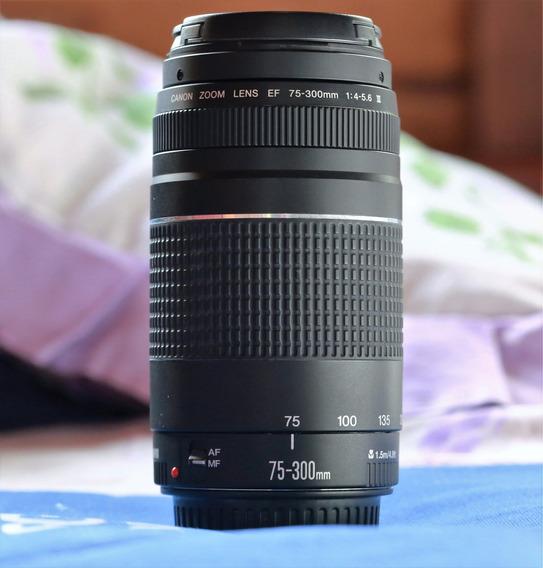 Lente Canon Ef 75-300mm F/4.5.6 Iii (seminova) Com Caixa