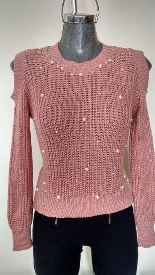 Suéter De Moda Juvenil Con Perlas